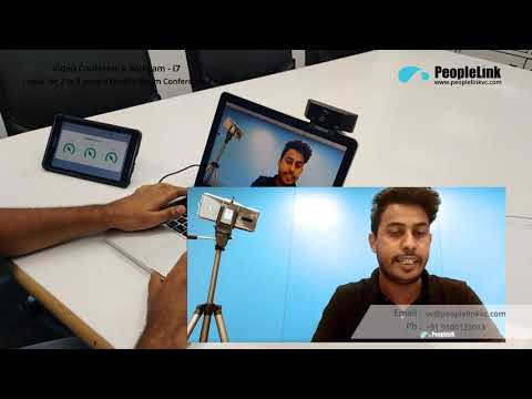 Webcam For Laptop / Desktop With Inbuilt Mic Peoplelink I7