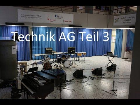 Technik AG Teil 3/3 Multicore, DI-Box und Monitor