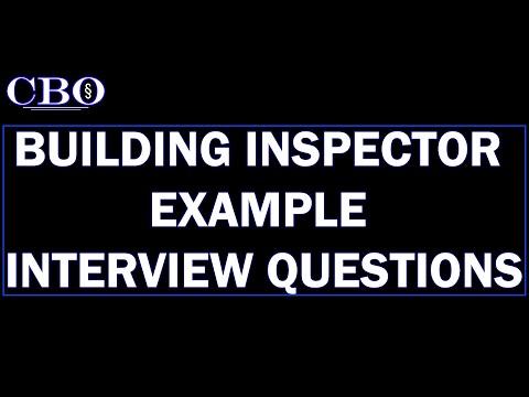 Building Inspector Job Interview Example Questions - YouTube