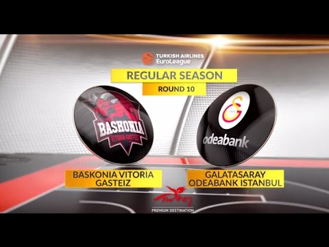 EuroLeague Highlights RS Round 10: Baskonia Vitoria Gasteiz 69-62 Galatasaray Odeabank Istanbul