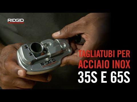 RIDGID Tagliatubi per tubi in acciaio inox 35S e 65S