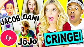 REACTING AND RATING CRINGY MUSICAL.LY'S!