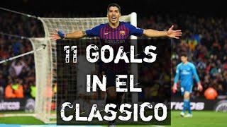 Luis Suarez • 11 Goals Vs Real Madrid