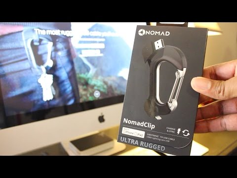 NomadClip | iPhone & iPad Lightning to USB Cable Carabiner