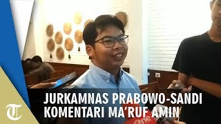 Jurkamnas Prabowo-Sandi Ma'ruf Amin Tidak Lepas dan Cenderung Hafalan saat Debat