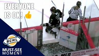 Must See Moment: Cameron Recchi's hit causes the glass to shatter!