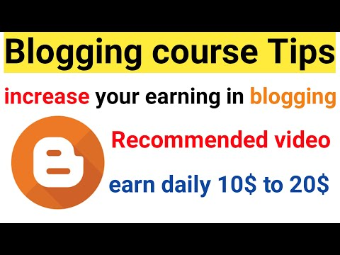 how to make money blogging || blogger tutorial for beginners || blogging course