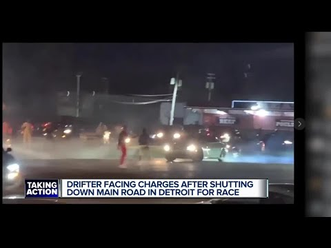 Drifter facing charges after shutting down main road in Detroit for race