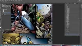 Comic book speed painting with Photoshop - Avenging Spider-man Issue 1 page 14