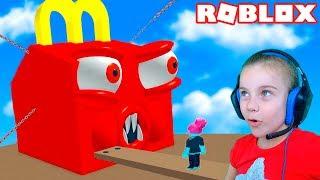 ПОБЕГ ИЗ МАКДАК РЕСТОРАНА в Роблокс приключение мульт героя в ресторане Roblox