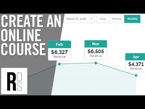 HOW TO CREATE AN ONLINE COURSE (That Pays You $1,000 A ...
