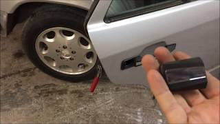 DIY: Mercedes w124 how to remove exterior rear  door handle