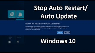 How to Stop Windows 10 from Restarting after Updates - Самые