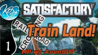 Satisfactory Ep 1: RACING TO THE FUTURE - Train Land! MP w/ Aven1017 - Let's Play, Gameplay