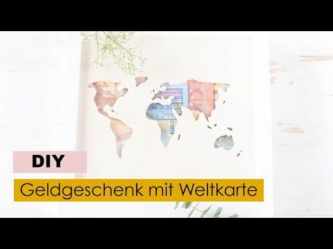 Diy Geldgeschenk Zur Hochzeit Basteln Weltkarte Aus Holz Ikea Hack