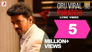 Sarkar - Oru Viral Puratchi Tamil Lyric Video   Thalapathy Vijay   A .R. Rahman   A.R Murugadoss