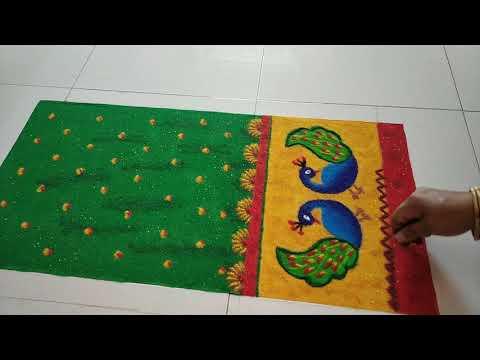rangoli design of saree by poonam bichkar