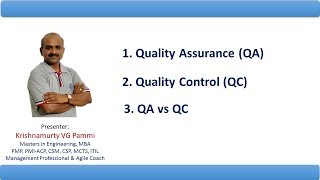 Quality Assurance  versus Quality Control using examples