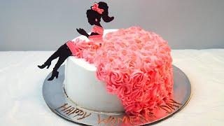 Girl Cake Decoration | Cake Decoration | Rosette | Girl | Chocolate Decoration