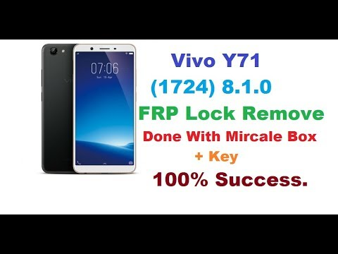 Vivo Y71 (Vivo 1724) Pattern , Password & FRP Lock Remove