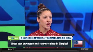 Aly Raisman Interview On Gabby Douglas, Tom Brady & Family