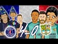 😲4-0! PSG vs BARCELONA😲🎤 The Song🎤MSN go down together in Paris (Champions League 2017)