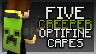 5 Creeper Optifine Cape Designs! - Themed Optifine Capes