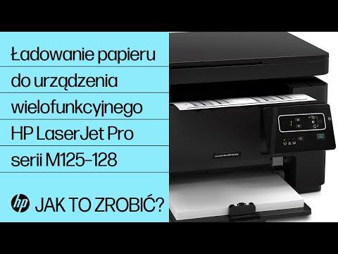 Ładowanie papieru do urządzenia wielofunkcyjnego HP LaserJet Pro serii M125–128