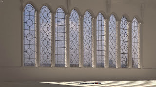 Kathedrale I, Interior of the Basilica, Stained glass - Витраж - 3Ds Max Tutorial