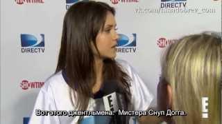 Нина Добрев и Йен Сомерхолдер, Интервью Нины и Йена с футбола