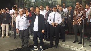 Kedatangan Novel Baswedan di Gedung KPK Disambut Meriah