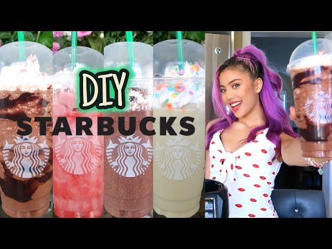 HOW TO MAKE 5 STARBUCKS FRAPPUCCINO DRINKS AT HOME 2019/2020 | EASY & SIMPLE DIY | MIANA LAUREN