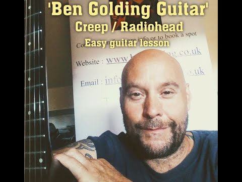 Creep by Radiohead - Beginners chords guitar tutorial