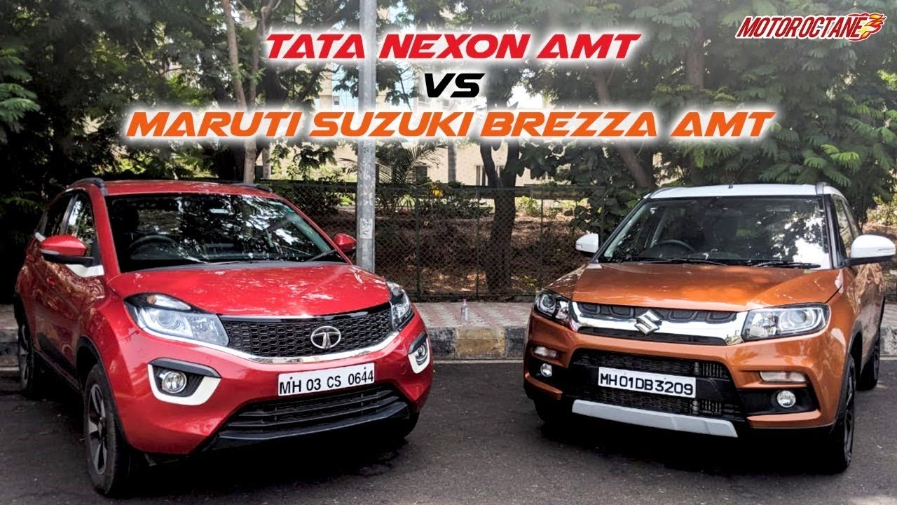 Motoroctane Youtube Video - Tata Nexon AMT vs Maruti Vitara Brezza AMT Comparison | Hindi | MotorOctane