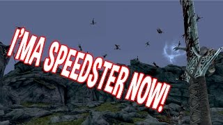 SUPER SPEED MOD! Skyrim Remastered Xbox One Console Mods | Stop Time Ring!