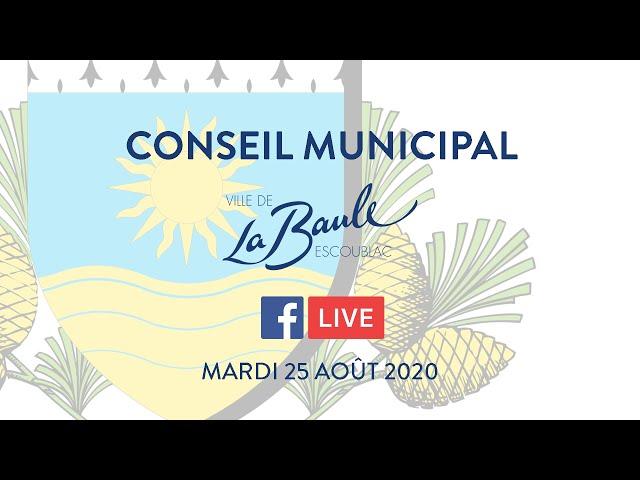 Conseil municipal du 25 août 2020