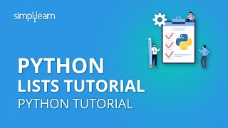 Python Lists Tutorial | Python List Functions | Python Tutorial | Python Programming | Simplilearn