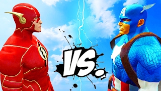 The Flash vs Captain America - Epic Superheroes Battle