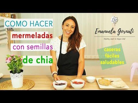 COMO HACER DOS MERMELADAS CASERAS CON SEMILLAS DE CHIA. Fácil, rápido y muy saludables