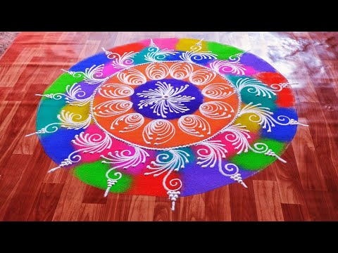 attractive new year sanskar bharti rangoli 2021 by asmitas