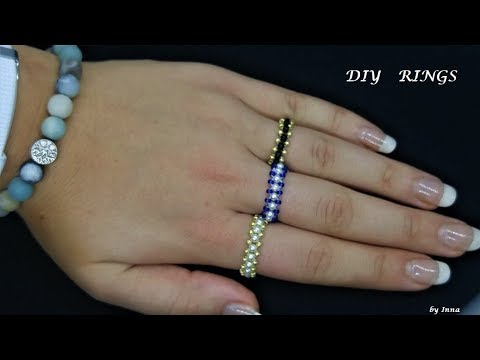 Beaded ring in less than 10 minutes.  DIY beaded rings. Very easy pattern