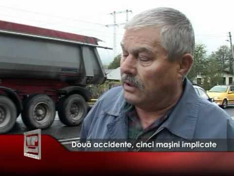 Două accidente, cinci maşini implicate