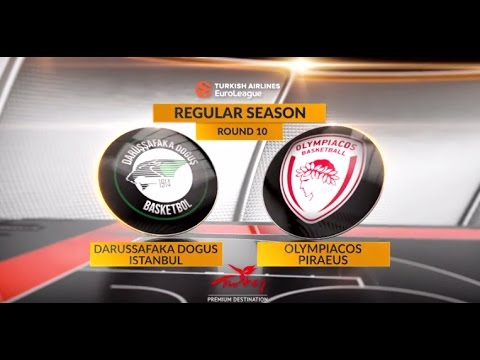EuroLeague Highlights RS Round 10: Darussafaka Dogus Istanbul 71-77 Olympiacos Piraeus