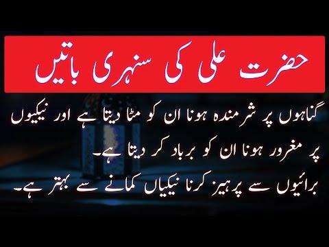 Hazrat Ali Quotes | Hazrat Ali (R.A) Heart Touching Quotes Part 2| Hazrat Ali Ki Pyari Baatain