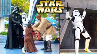 Top 10 Disney Fails & FUNNY Star Wars Jedi Training Academy Moments Part 2