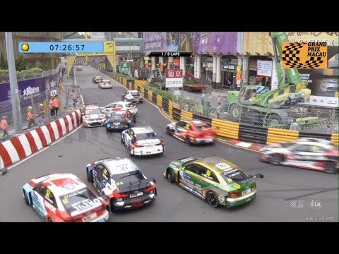 WTCR 2018. Race 1 Macau Grand Prix. Traffic Jam