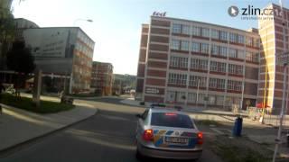 preview picture of video 'Průjezd reportéra Zlin.cz městskou rychlostní zkouškou Barum Rally'