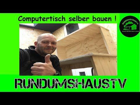 Computertisch selber bauen aus Multiplex