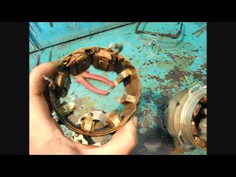 генератор мотоцикла Минск  -  ремонт