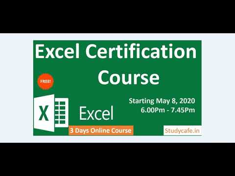 Excel Certification Course - YouTube